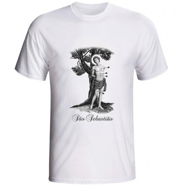 Camiseta São Sebastião Preto e Branco