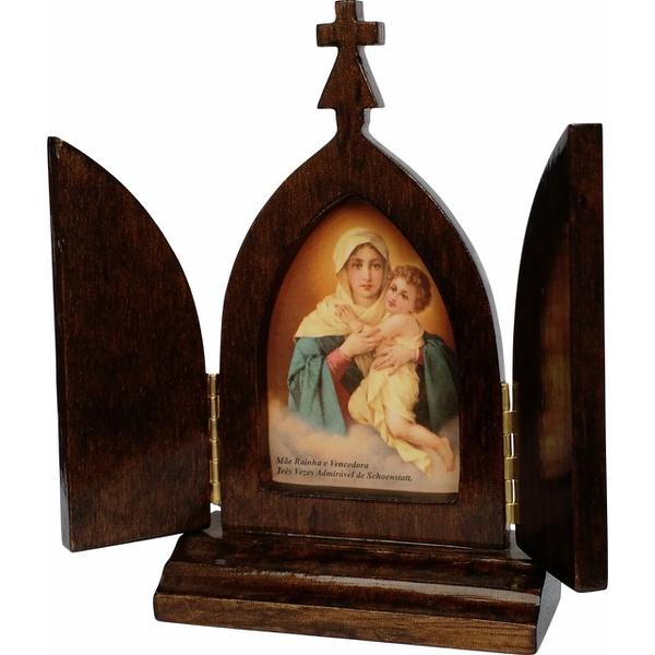 Capela Mãe Rainha 13cm com Porta