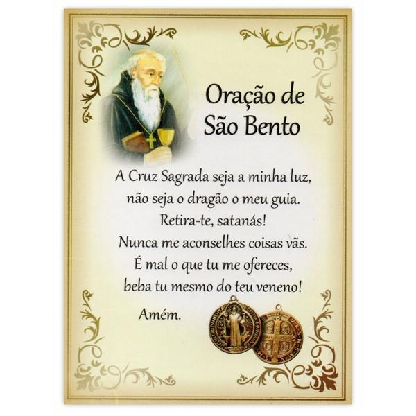 Cartão Postal Oração de São Bento