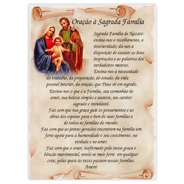 Cartão Postal Oração da Sagrada Familia