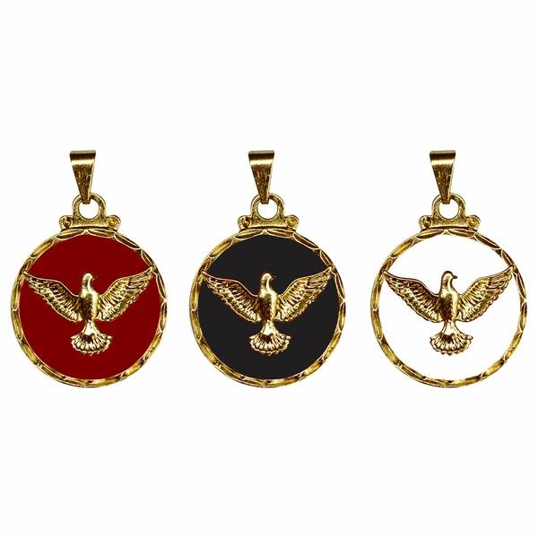 Medalha do Divino Espirito Santo Resinada Grande