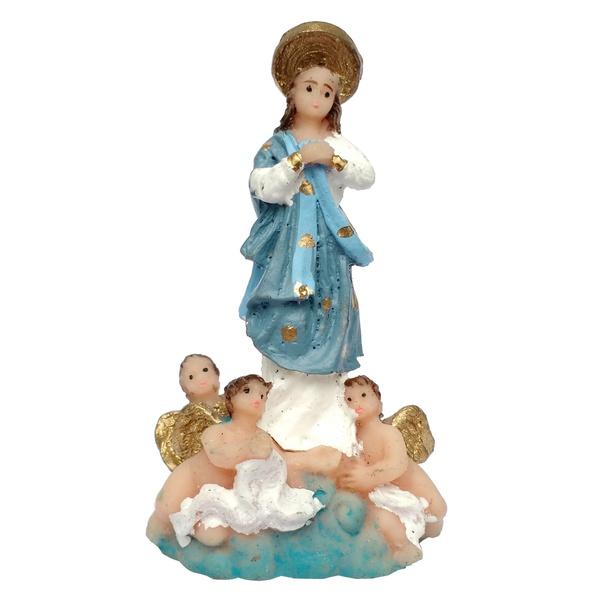 Imagem de Nossa Senhora da Conceição 7cm Resina Nacional