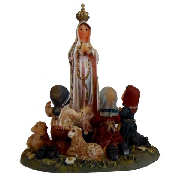 Nossa Senhora de Fátima com Pastores 7cm Nacional