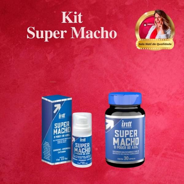 KIT SUPER MACHO   Super Macho Gel Potencializador de Ereção + Super Macho Cápsulas MultiVitaminico