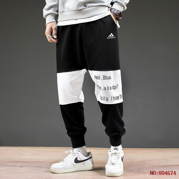 Calça Adidas Moletom Black/white 8754