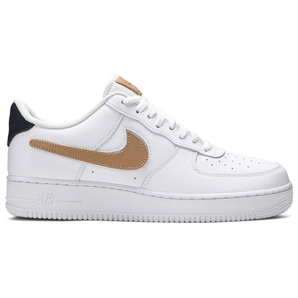Tênis Nike Air Force 1 Low Removable Swoosh Pack White