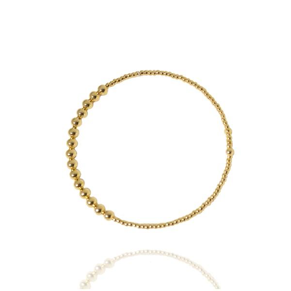 Pulseira Bracelete Formato Bolinhas Semijoia Banho de Ouro 18K