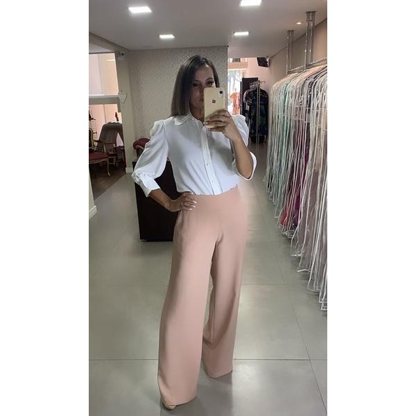 Calça Pantalona Nude