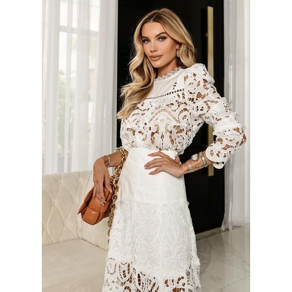 Blusa lace Off White