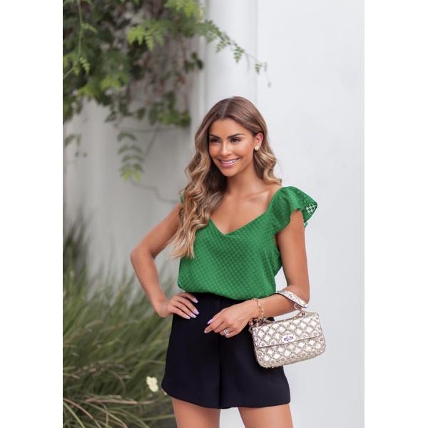 Blusa Babado Verde