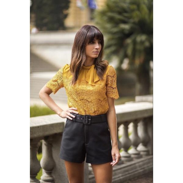 Shorts de Alfaiataria Preto