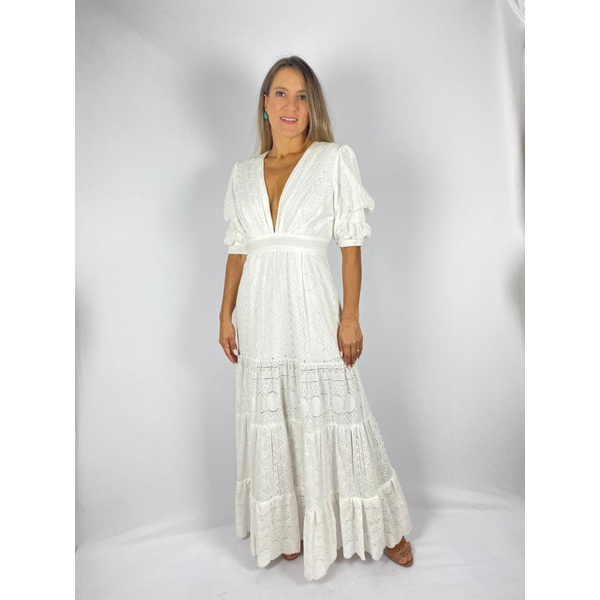 Vestido Jully Mik Off White