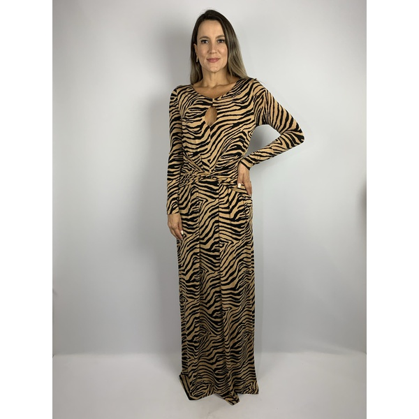 Vestido Tigre longo