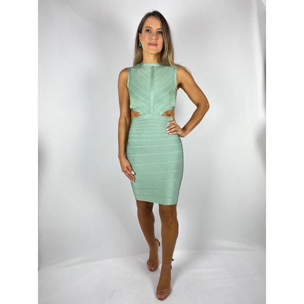 Vestido Curto Bandagem Verde