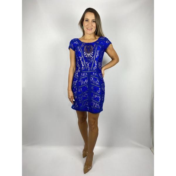 Vestido De Renda Azul Royal