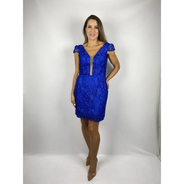 Vestido Guiper Azul Royal