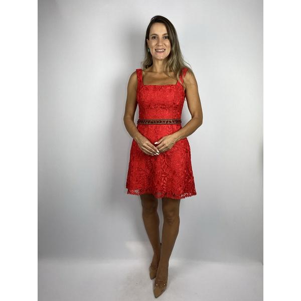 Vestido Red Guipir Curto