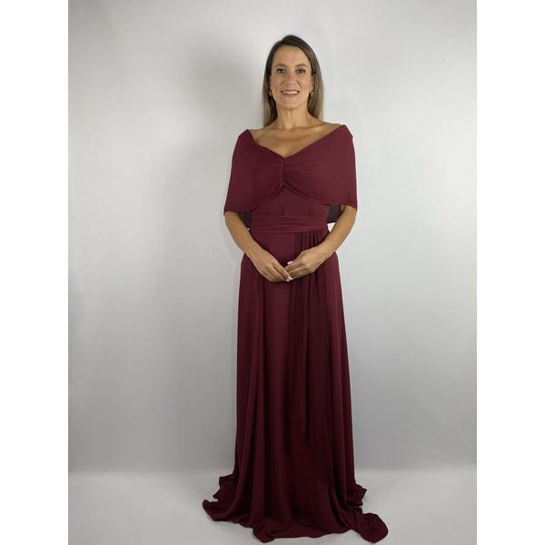 Vestido Crepe Marsala