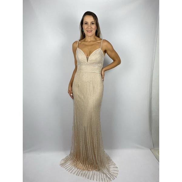 Vestido Shine Nude