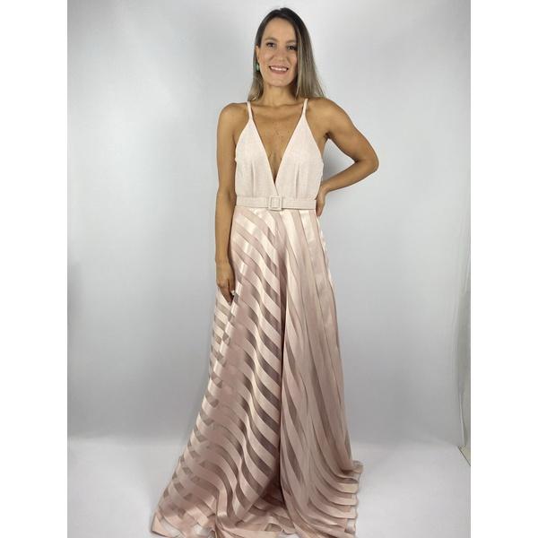 Vestido Organza Rosa