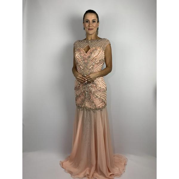 Vestido Longo Decote Rose