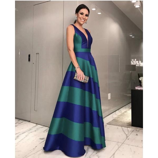 Vestido Zibeline Bicolor