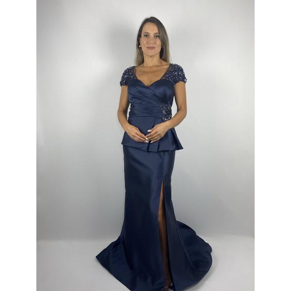 Vestido Zibeline Fenda