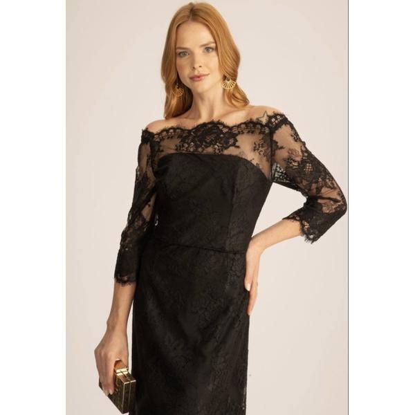 Vestido Renda Botticeli Preto