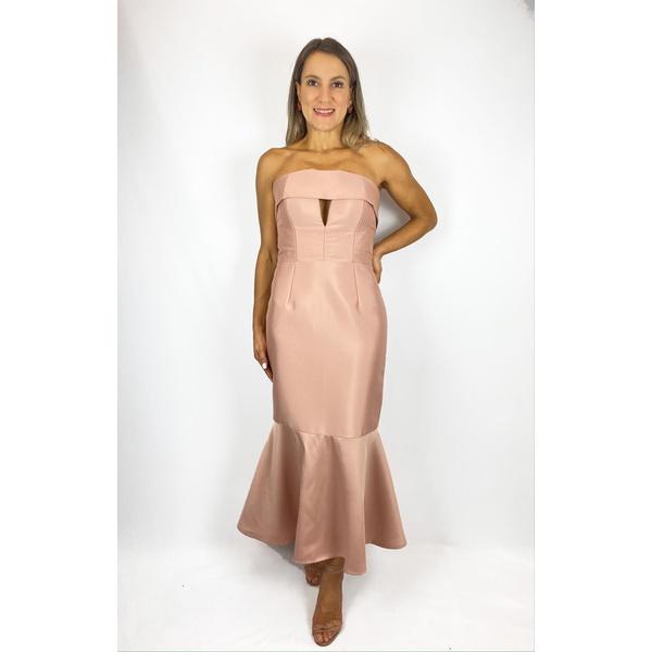 Vestido Midi Tomara Que Caia Rosa