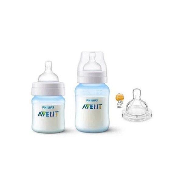 Kit Mamadeiras Avent Anti-Colic 125 ml e 260 ml - Azul