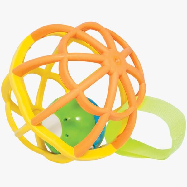 Baby Ball Luz e Som Buba - Laranja e Amarelo