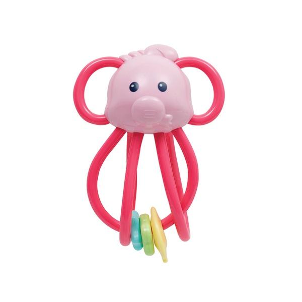 Elefantinho Chocalho Divertido Buba - Rosa