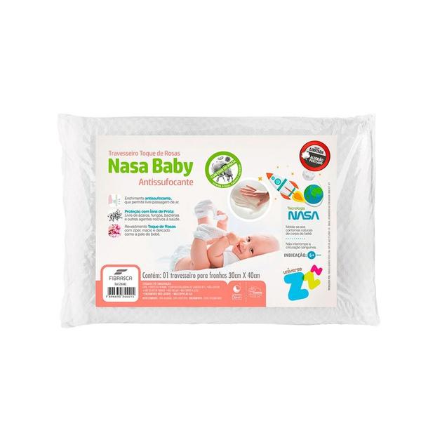 Travesseiro Antissufocante Toque de Rosas Baby - Fibrasca