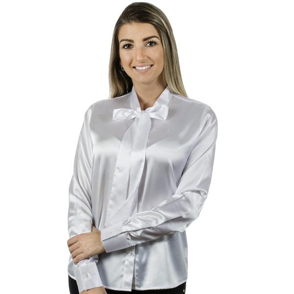 Blusa com Laço Feminina Cetim Isidore