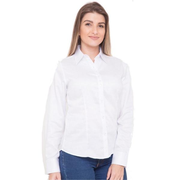 Camisa Branca Feminina Social Manga Longa Julie