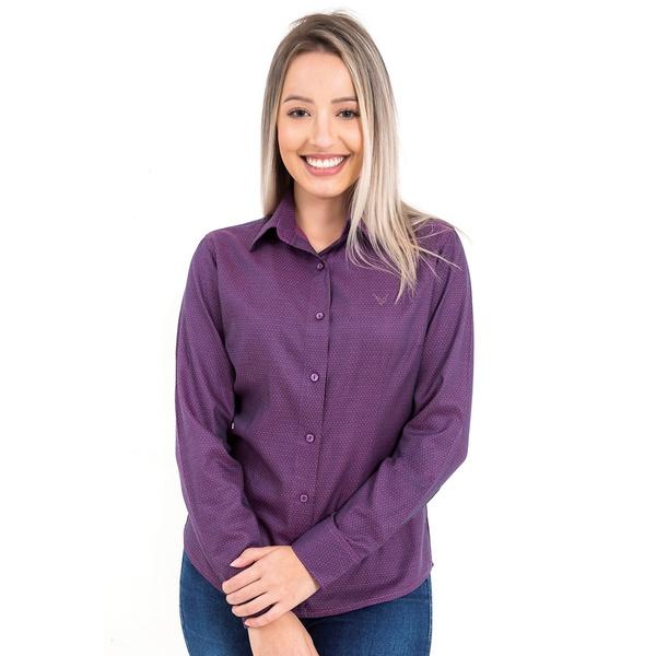 Camisa Roxa Feminina Manga Longa Belle