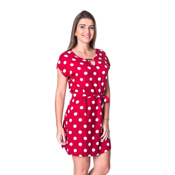 Vestido Poá Pimenta Rosada Diélly