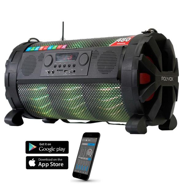 Caixa De Som Amplificada Bluetooth Bazuka Xb860 Polyvox 480w Led