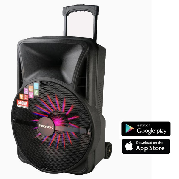 Caixa De Som Amplificada Xc-515 Polyvox Bluetooth Usb Potência 500w Woofer 15