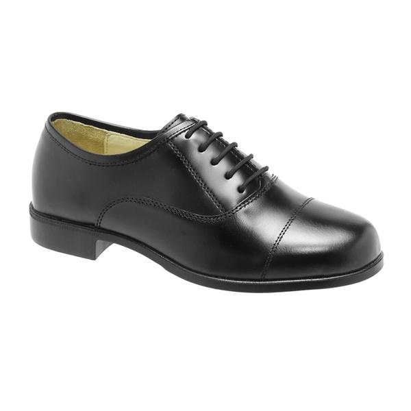 Sapato Social Militar, Couro, Brilho, Solado Borracha.