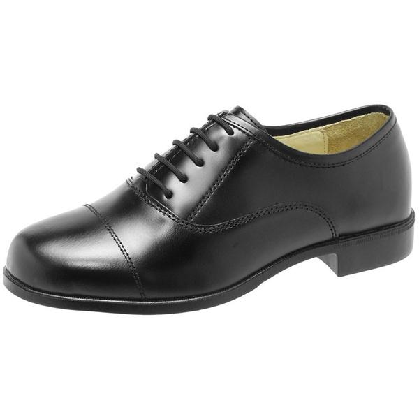 Sapato Social Couro Black, Brilho , Solado Borracha.