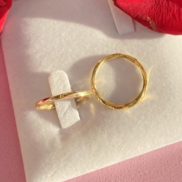 Aliança de Ouro 18k 2mm 4 gramas Modelo California