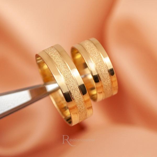Alianças Ouro 18K 6mm 6 Gramas Modelo Roma
