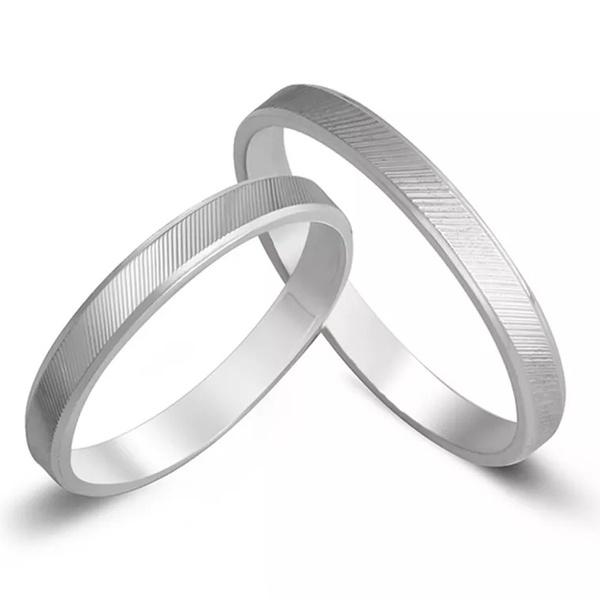 Aliança de Compromisso Prata 950 3mm Fina Reta