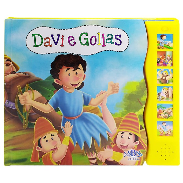 LIVRO SONORO HISTÓRIAS DA BÍBLIA - DAVI E GOLIAS