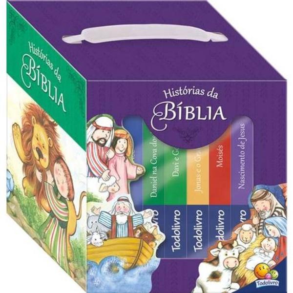 MALETINHA HISTÓRIAS DA BIBLIA - KIT COM 6 UNIDADES