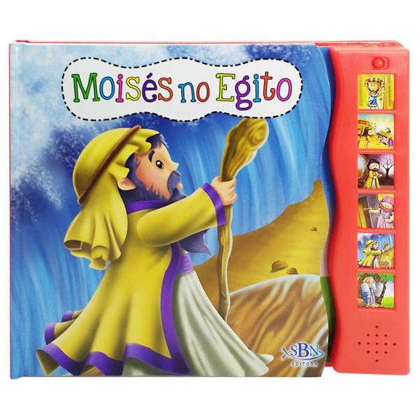 LIVRO SONORO HISTÓRIAS DA BÍBLIA - MOISÉS NO EGITO