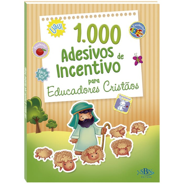 1.000 ADESIVOS DE INCENTIVO PARA EDUCADORES CRISTÃOS
