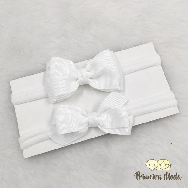 Kit Faixa para bebê Duplo Gravatinha Branco