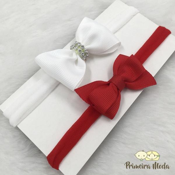 Kit Faixa para bebê Duplo Gravatinha Vermelho